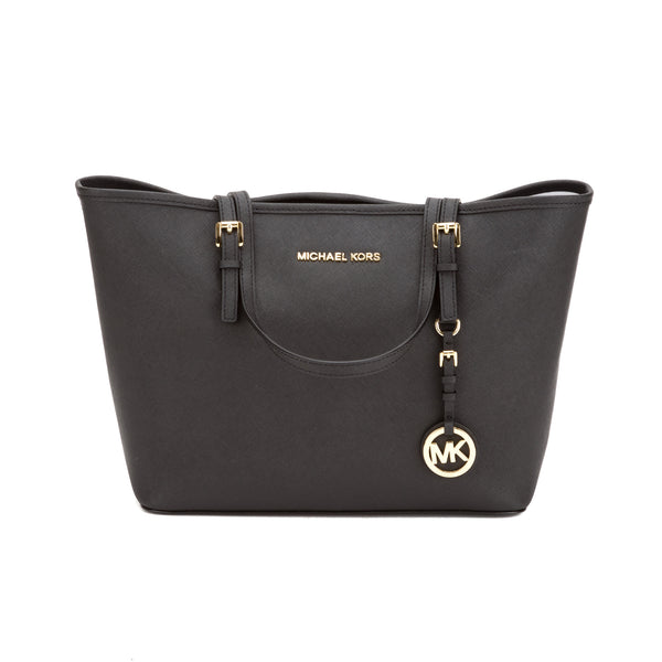 1f39610b5494 Michael Kors Black Jet Set Saffiano Small Tote (New with Tags ...