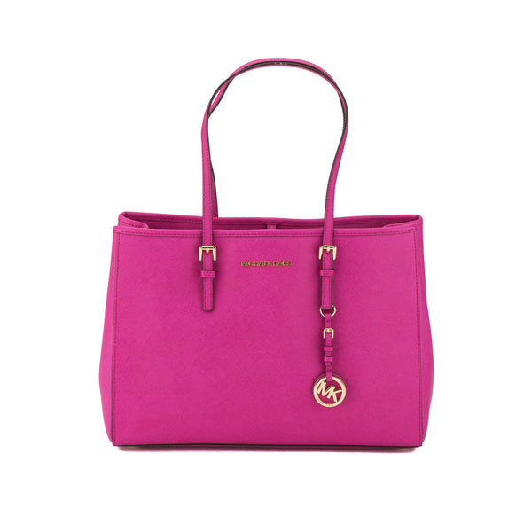 df214598440c Michael Kors Fuchsia Jet Set Travel Saffiano E/W Tote (New with Tags ...