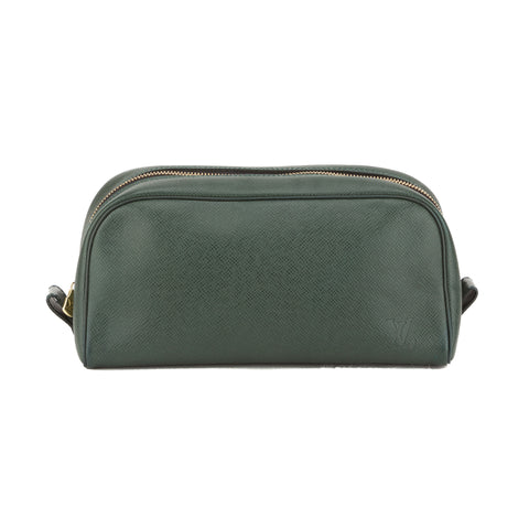Louis Vuitton Green Taiga Episea Cosmetic Pouch (Pre Owned)