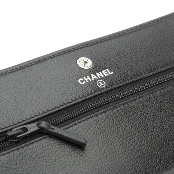 23d062429f2a ... Chanel Black Calfskin WOC Jacket Wallet on Chain (Authentic Pre Owned)  ...