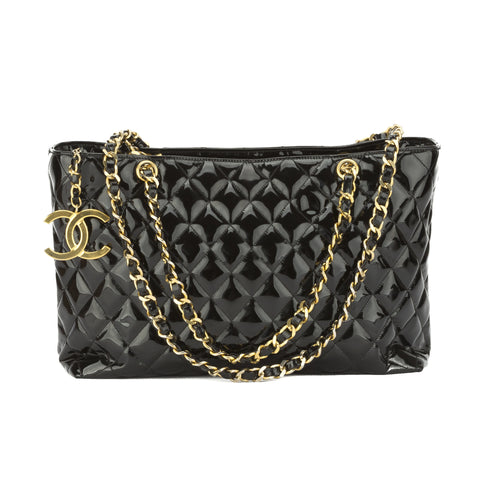 Chanel Black Patent Grand shopper tote Bag (Pre Owned)
