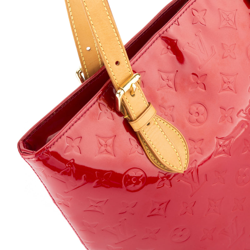 Louis Vuitton Red Vernis Brentwood Bag (Authentic Pre Owned)