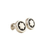 Montblanc Steel and Onix Round Cuff Links Meisterstuck (New with Tag)