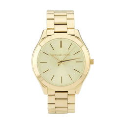 Michael Kors Gold-Tone Slim Runway Stainless Steel Watch (New with Tags)