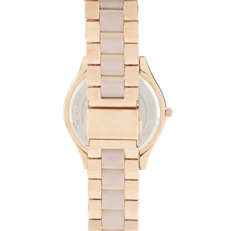 Michael Kors Rose Gold-Tone Slim Runway Stainless Steel Watch (New with Tags)