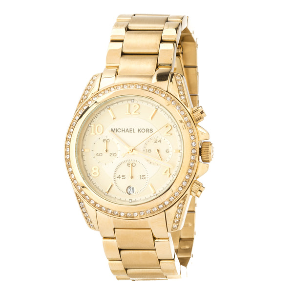Michael Kors Gold-Tone Blair Chronograph Runway  Stainless Steel Watch (New with Tags)
