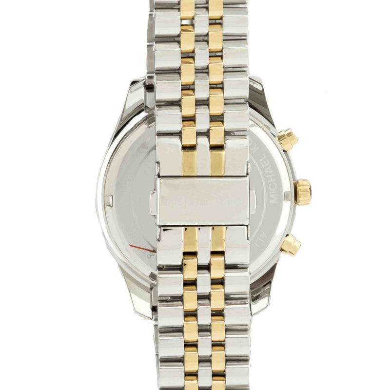 Michael Kors  Black and Gold-Tone Chronograph Runway  Stainless Steel Watch (New with Tags)