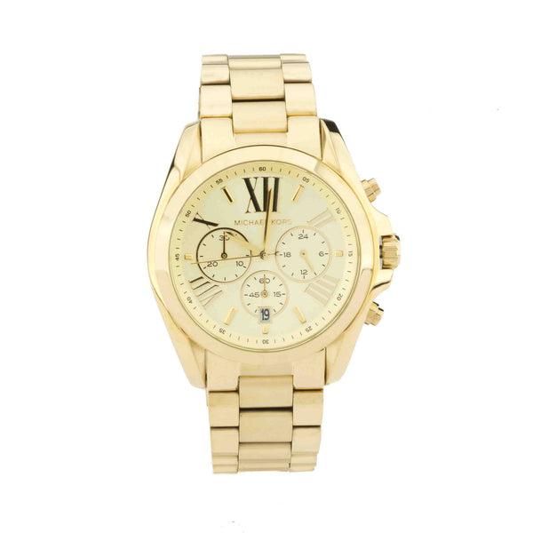 Michael Kors Gold-Tone Bradshaw Women's Chronograph Stainless Steel Watch (New with Tags)