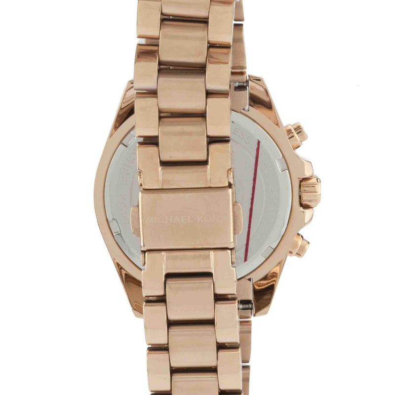 Michael Kors Rose Gold-Tone Women's Chronograph Mini Bradshaw Stainless Steel Watch (New with Tags)