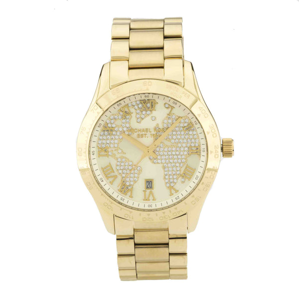 Michael Kors Gold-Tone Women's Layton Stainless Steel Watch (New with Tags)