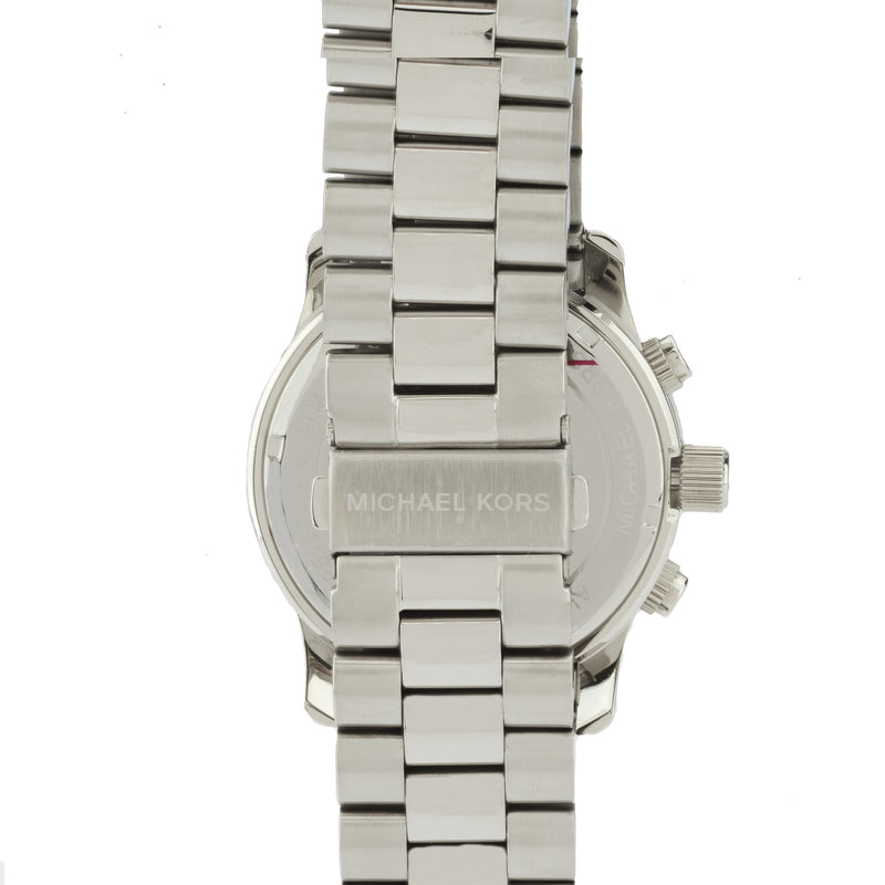 Michael Kors Silver-Tone Men's Runway Stainless Steel Watch (New with Tags)