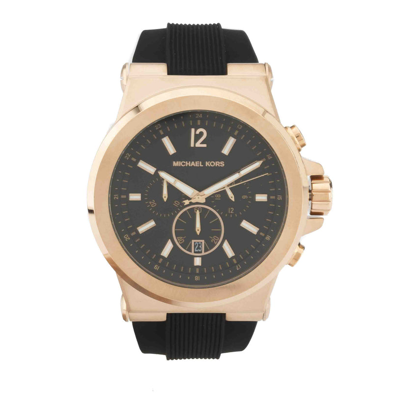 Michael Kors Men's Dylan Chronograph Black Silicone Strap Watch  (New with Tags)