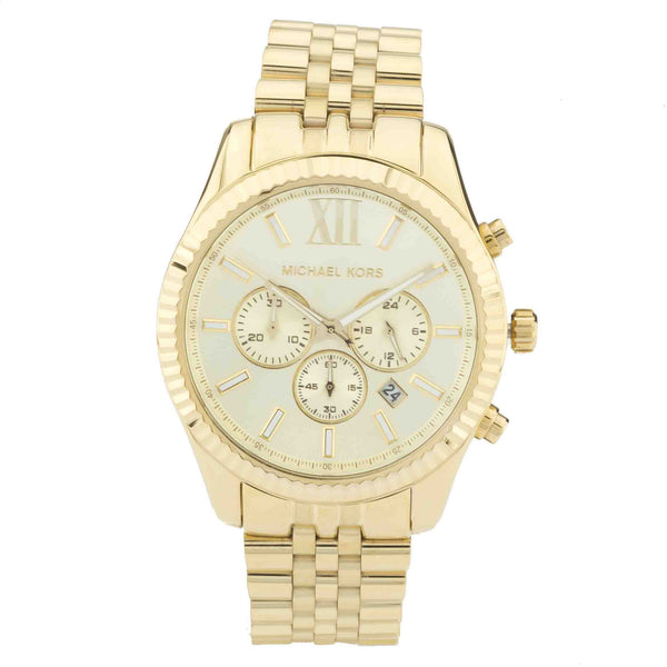 Michael Kors Men's Lexington Chronograph Gold-Tone Watch  (New with Tags)