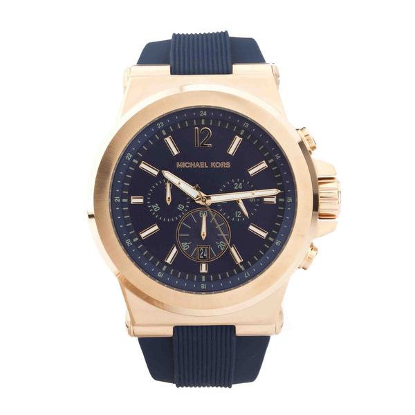 Michael Kors Men's Dylan Chronograph Navy Silicone Strap Watch  (New with Tags)