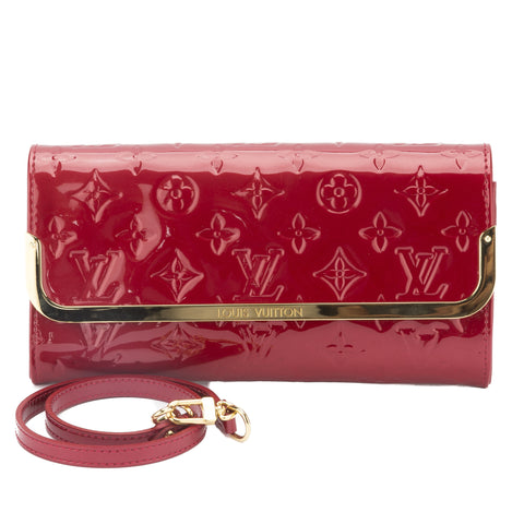 Louis Vuitton Red Vernis Rossmore MM  Bag (Pre Owned)