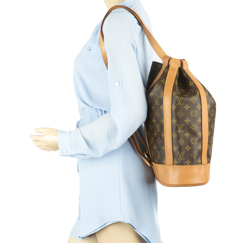 Louis Vuitton Monogran Petit Randonnee Shoulder Bag (Authentic Pre Owned)