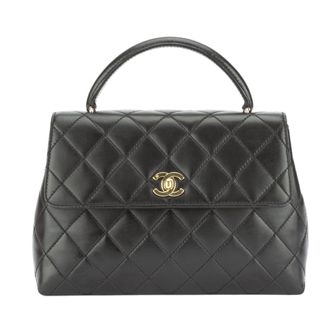 Chanel Black Lambskin Kelly Bag (Pre Owned)