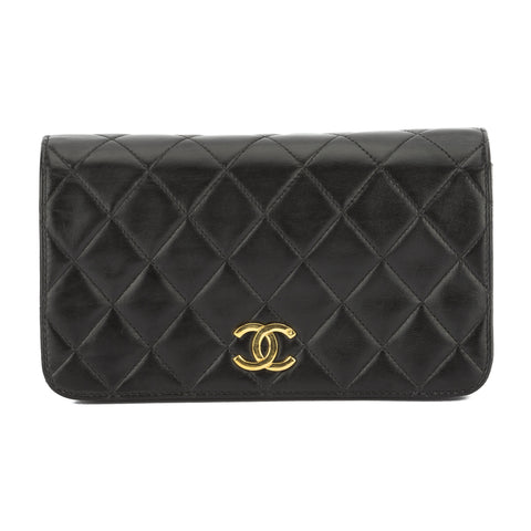 Chanel Black Quilted Lambskin Leather Mini Single Flap Bag (Pre Owned)