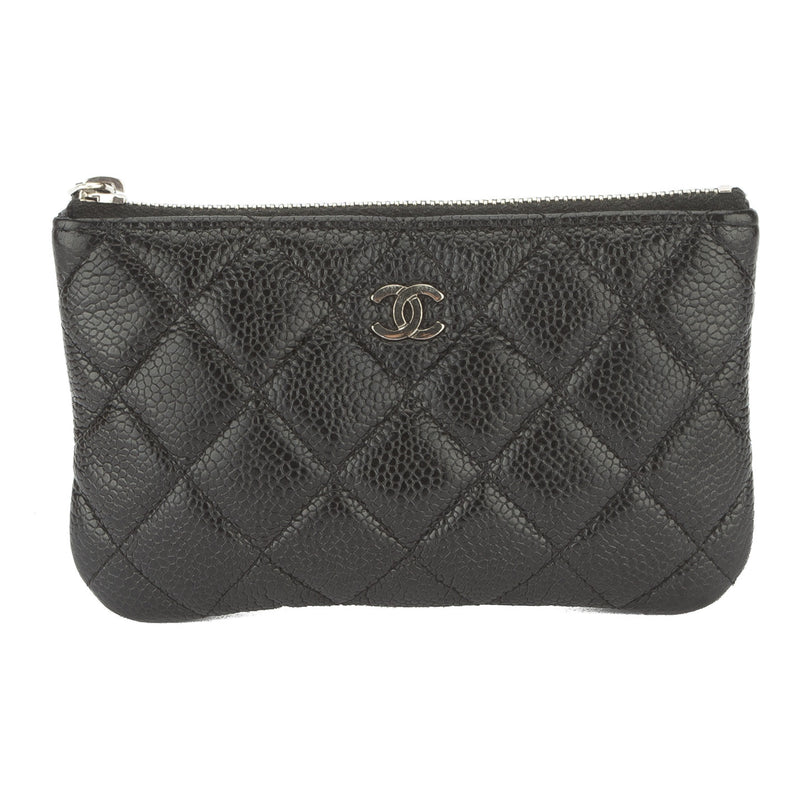 Chanel Black Caviar Coin Key Pouch (Authentic Pre Owned)