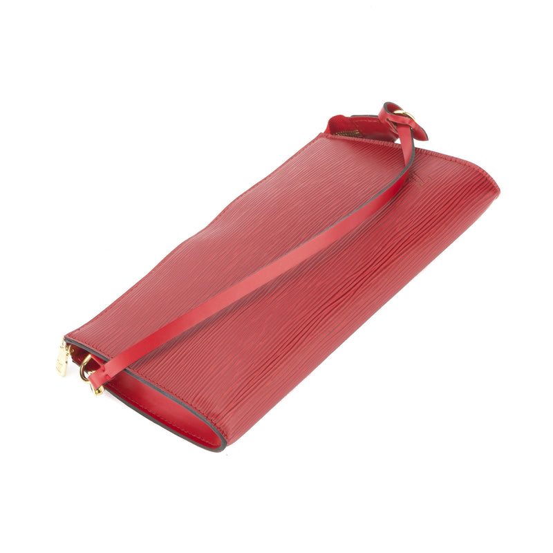 Louis Vuitton Red Epi Pochette (Authentic Pre Owned)