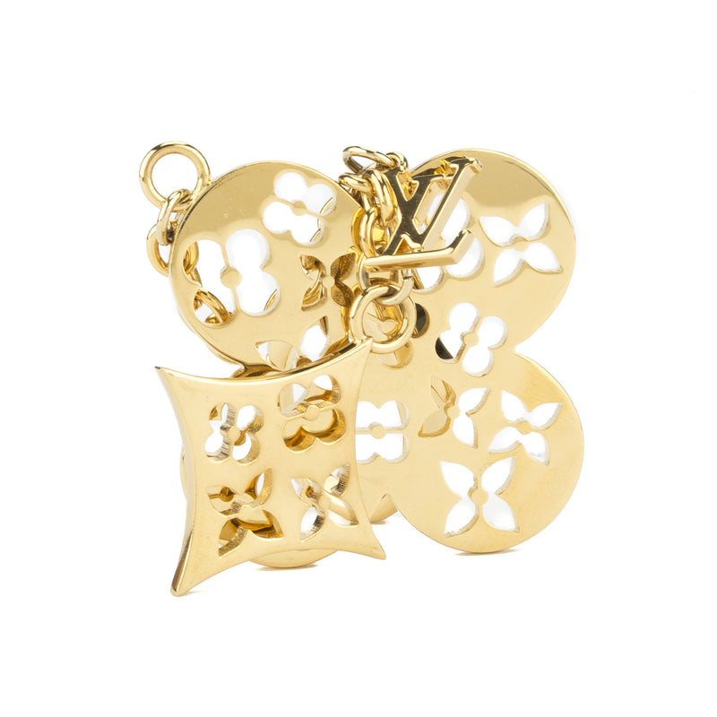 Louis Vuitton Gold Ivy Chain Brass Key Holder Charm (Authentic Pre Owned)