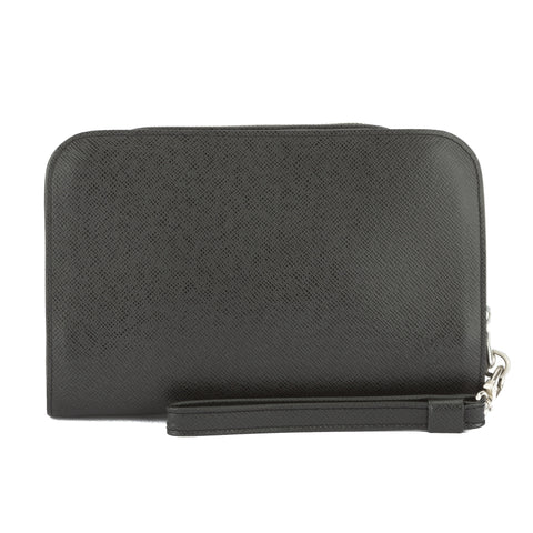 Louis Vuitton Black Taiga Baikal Clutch (Pre Owned)