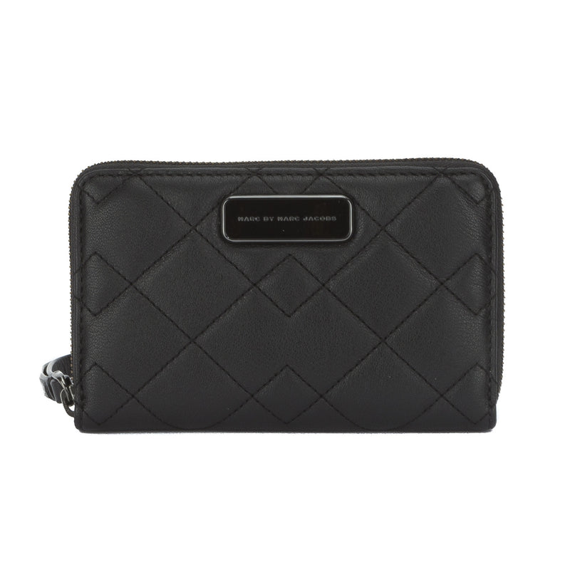 Marc Jacobs Black Sophisticato Crosby Quilted Wingman Wallet (New with Tags)