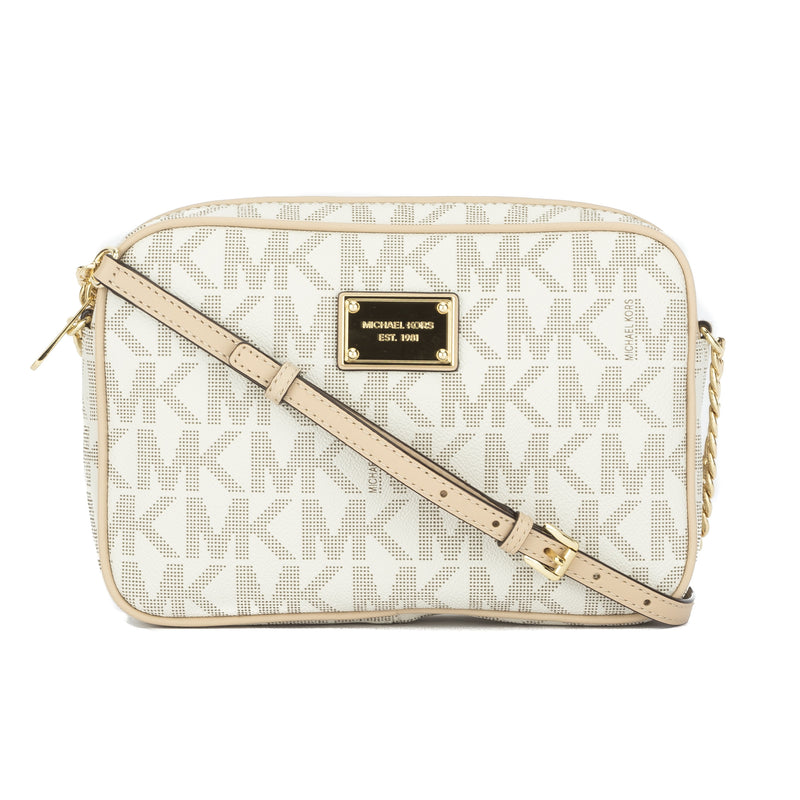 Michael Kors White Jet Set Travel Large E/W Crossbody (New with Tags)