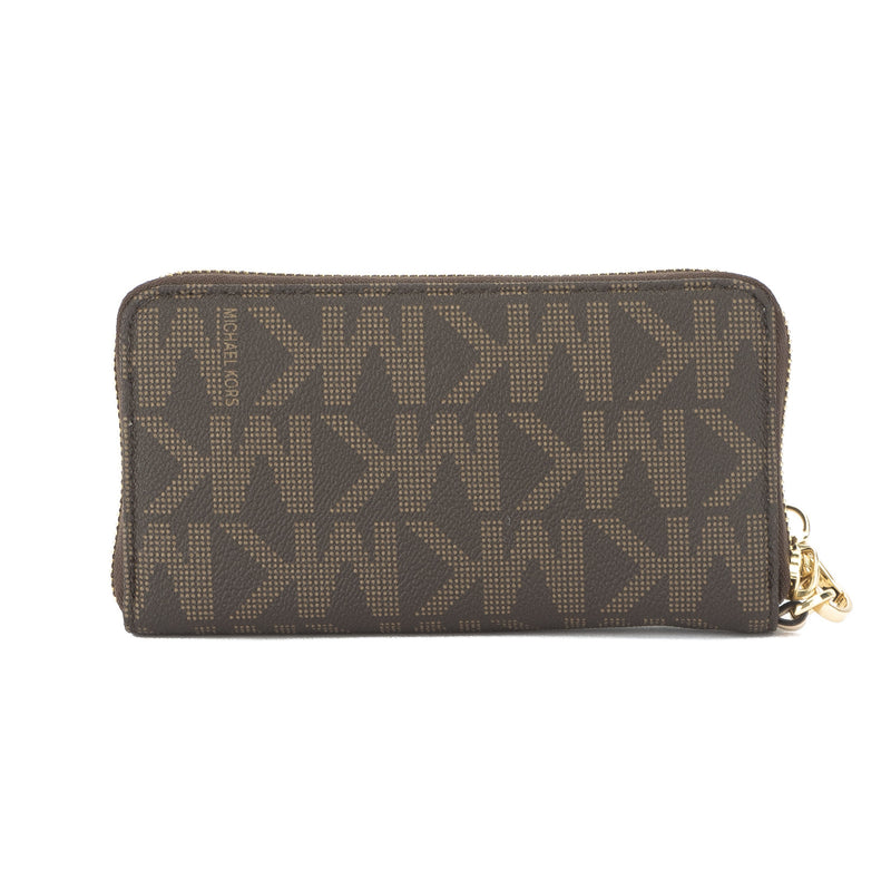 Michael Kors Brown Jet Set Item Large Flat Multifunction Phone Case (New with Tags)