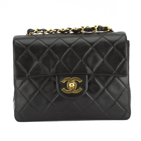 Chanel Black Lambskin Mini Single Flap (Pre Owned)
