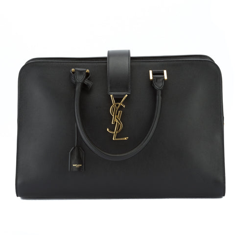 Saint Laurent Black Borsa Maniglia Corta Monogramme (New with Tags)