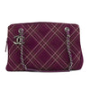 Chanel Bourdeaux Suede Quilted Stitch Bag (Pre Owned)