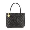Chanel Black Caviar Medallion Tote Bag (Pre Owned)