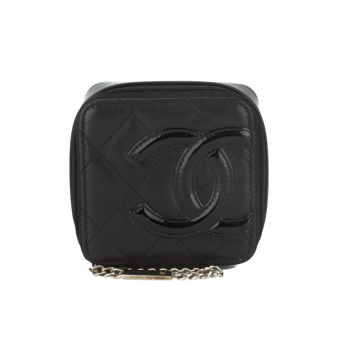 Chanel Black Calfskin Leather Pouch Case (Pre Owned)