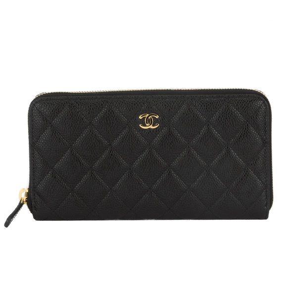 1063495b3225 Chanel Black Caviar Zippy Round Wallet (Authentic Pre Owned ...