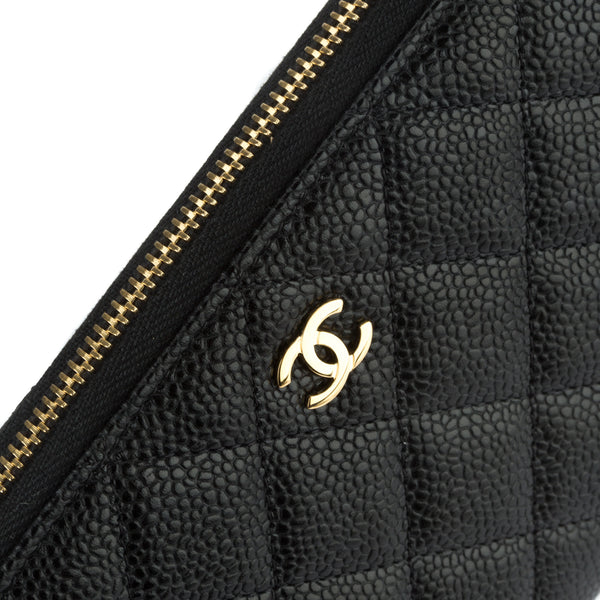 5d48ed9eedf7 ... Chanel Black Caviar Zippy Round Wallet (Authentic Pre Owned) ...