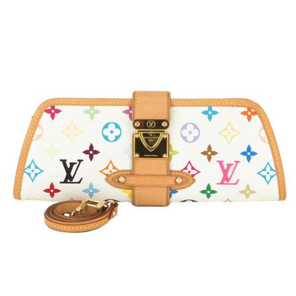 8b5644adae1c Louis Vuitton Multicolor White Shirley Clutch (Authentic Pre Owned ...