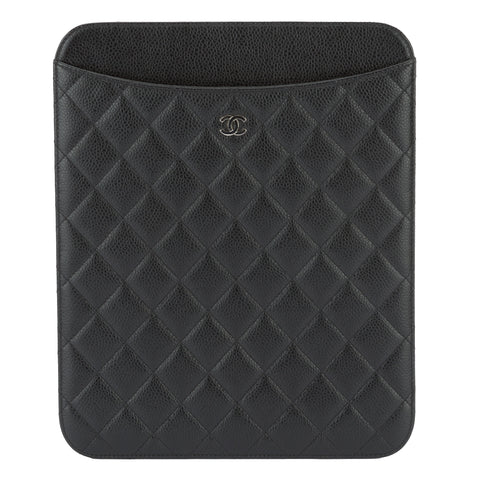 Chanel Black Caviar Ipad case (Pre Owned)