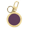Louis Vuitton Gold and Purple Key Holder Charm (Authentic Pre Owned)