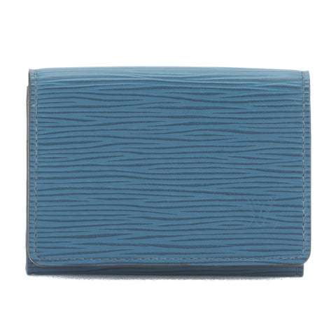 Louis Vuitton Blue Epi Enveloppe Business Card Case (Pre Owned)