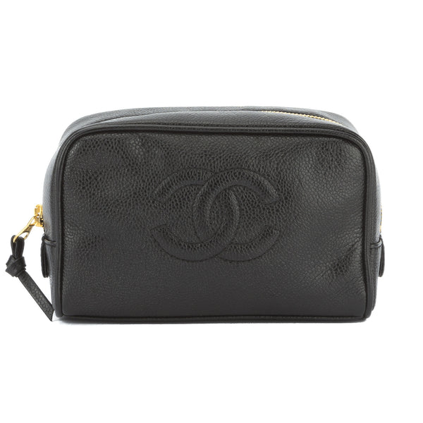 dcde0613ea3952 Chanel Black Caviar Cosmetic Pouch (Authentic Pre Owned) - 2823007 ...