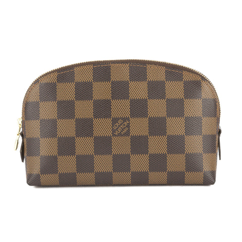 Louis Vuitton Damier Ebene Make-up Cosmetic Pouch (Authentic Pre Owned)