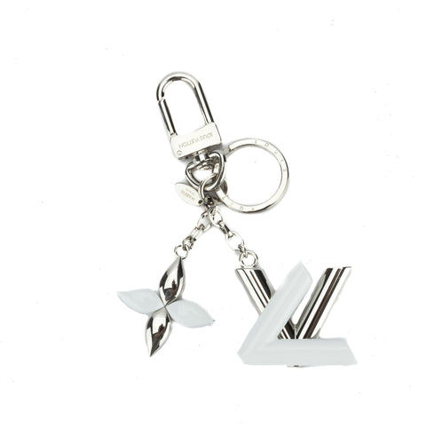 Louis Vuitton Silver Twist Key Holder charm (Pre Owned)