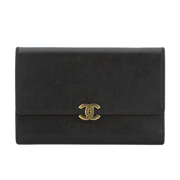 fbe63ec27355 Chanel Black Calfskin Bifold Wallet (Authentic Pre Owned) - 2843001 ...