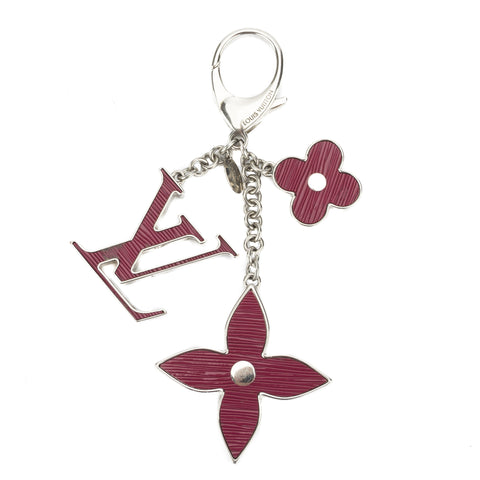 Louis Vuitton Silver Sac Fleur du Epi Key Holder charm (Pre Owned)