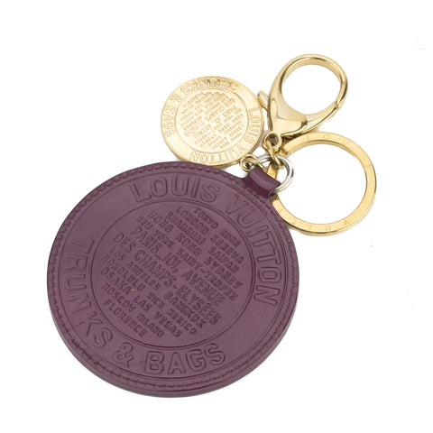 Louis Vuitton Gold and Vernis Violet Rond T & B Porte Cles  Keyring (Pre Owned)