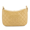 Chanel Beige Quilted Caviar Leather Shoulder Bag (Pre Owned)
