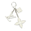 Louis Vuitton Silver Sac Fleur du Epi Key Holder charm (Authentic Pre Owned)