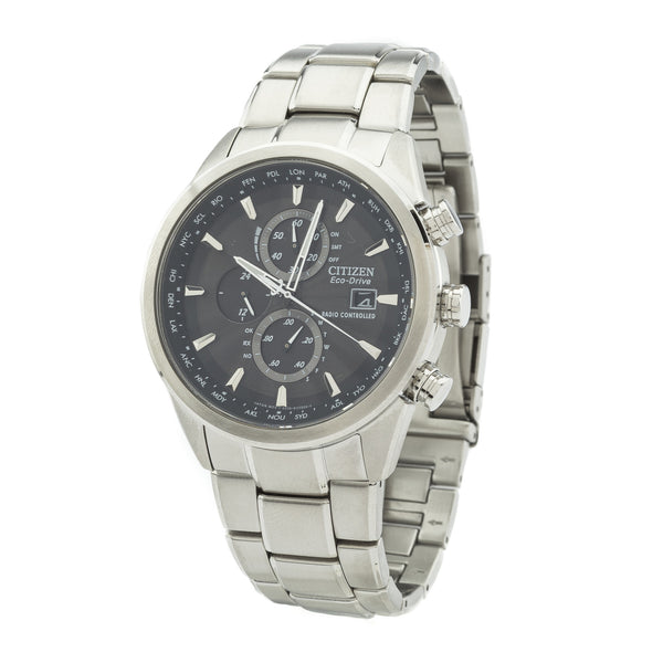 Citizen Silver World Chronograph A-T Watch (New with Tags)
