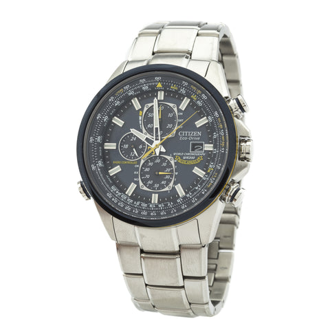 Citizen Silver Blue Angels World Chronograph A-T Watch (New with Tags)
